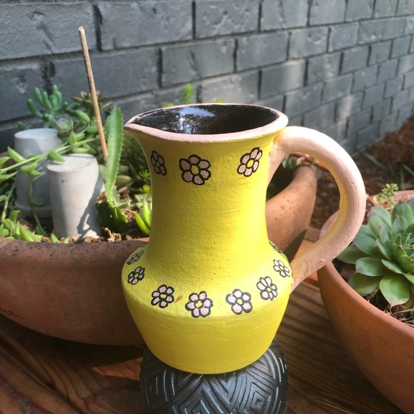 Hand Crafted Other - Hand Made Clay Mini Pitcher/Vase/Creamer Yellow